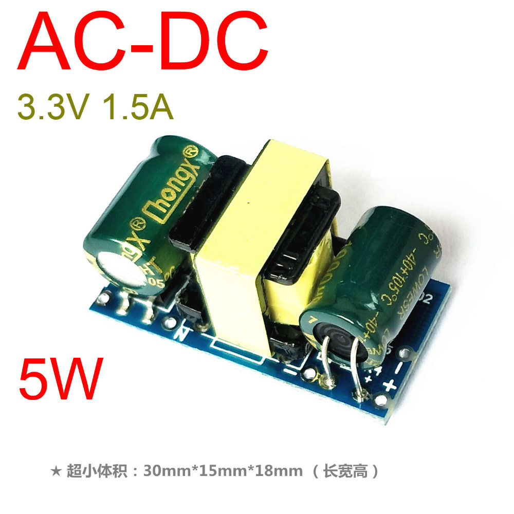 5 watt AC-DC Konverter 85 v ~ 265 v 110 v 220 v ZU 3,3 v 1.5A Schritt Unten Isoliert schaltnetzteil 230 v 240 v