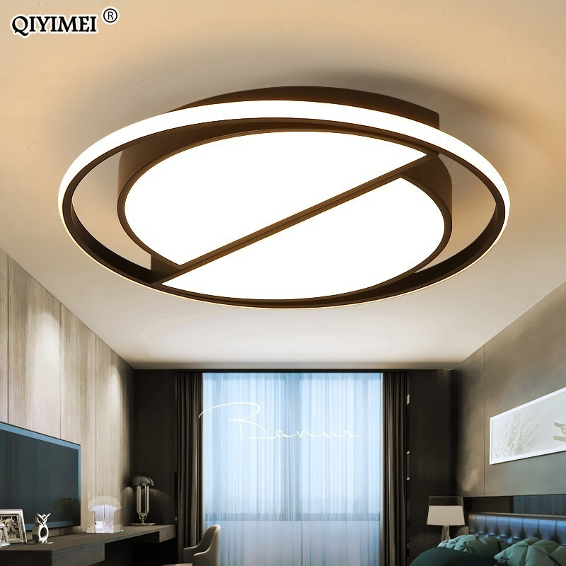 white black LED Ceiling Lamp Modern with remote control Ceiling Light Living Room Kitchen Light Fixtures