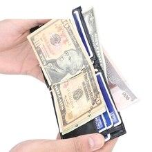 Fashion Mens Short Coin Wrapper Tide Thin Multi-Function Dollar Bag Clip Purse