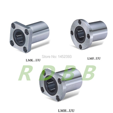 10 pcs LMK8UU LMK8 LMF8UU LMH8UU 8mm round flange linear ball bearing bushing for 8mm linear shaft