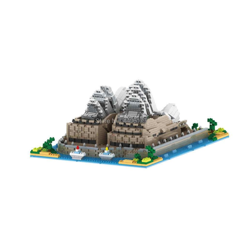 Hot LegoINGlys criadores da cidade mini Sydney Opera House Austrália do Street view micro diamante modelo de blocos de construção tijolos brinquedos de presente