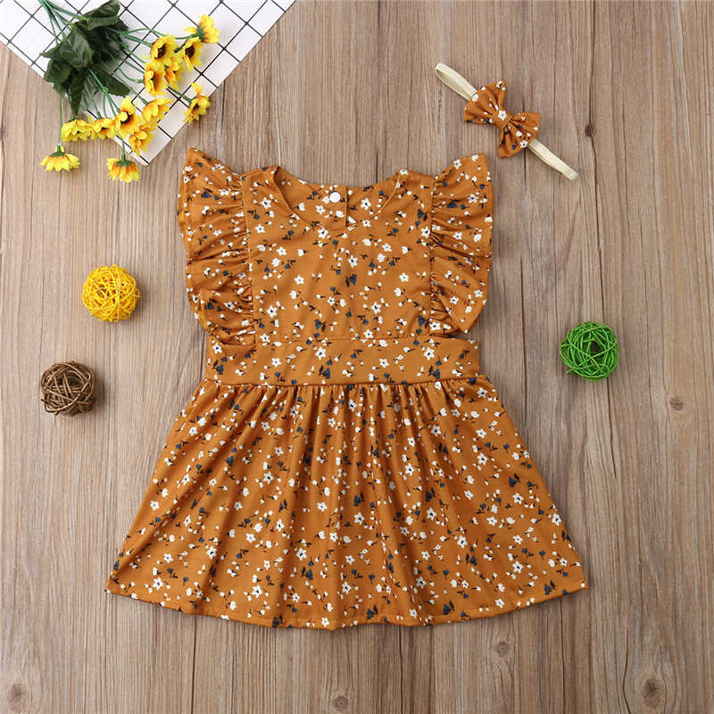 4ffecf6314831 Big Little Sister Clothes Flower Print Baby Girl Romper Big Sister Dress  Kids Dresses For Girls Summer Clothes Matching Outfits