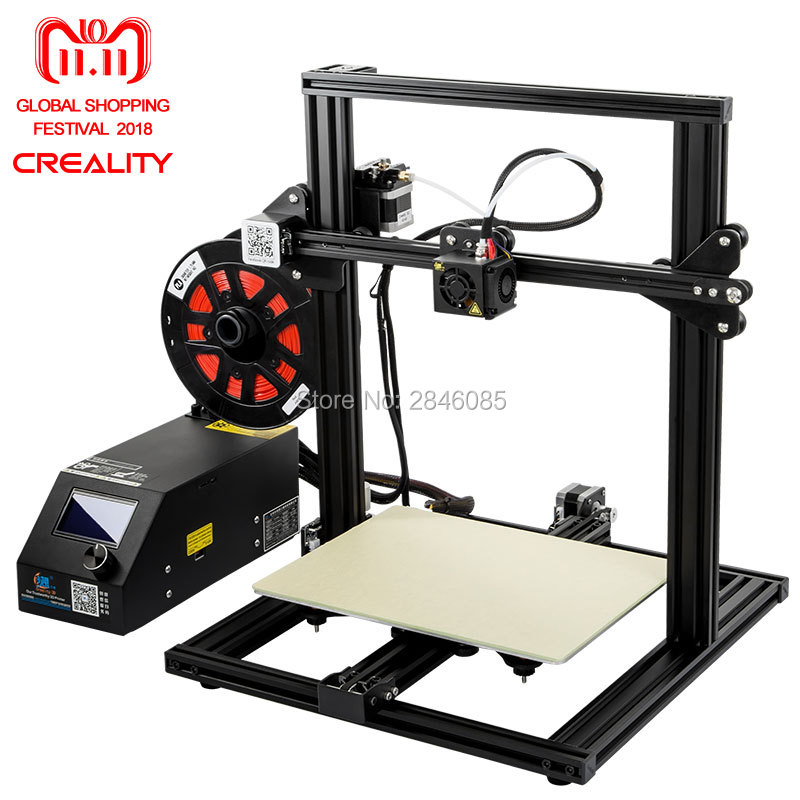 CREALITY 3D CR-10 Mini Semi Assemblé Aluminium 3D Imprimante Kit Impression Taille 300*220*300mm Reprendre Impression mise Hors tension Fonction