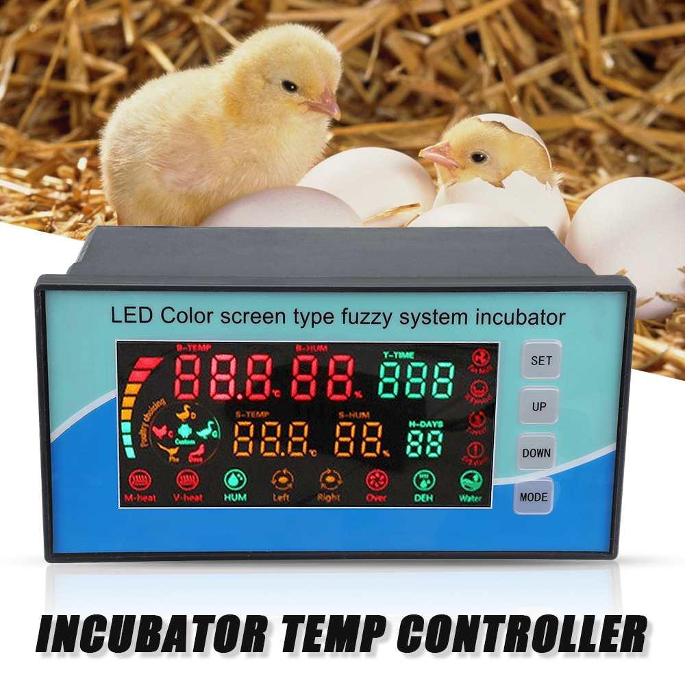 Thermostat de régulateur de température d'incubateur de LED numérique avec 2 câbles de capteur pour Machine à couver intelligente automatique 220 V
