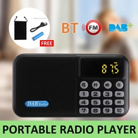 Digital DAB DAB+ FM Radio Player Receiver With bluetooth Stereo Speaker Portable Outdoor FM Receiver Music Player