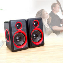 Portable Computer Surround Speakers With Stereo Bass USB Wired Powered Multimedia Speaker Desktop For Pc Laptops surround stereo wooden computer speakers home theater multimedia combination subwoofer usb port 2 1 laptop desktop loudspeaker