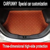CARFUNNY custom fit car trunk mats for all mode peugeot 5008 307 508 308 3008 301 2008 207 sw