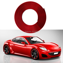 smRKE 8M Car Stickers Rim Protector Wheel Edge Rim Protectors Wheel Protector Tire Protection Care Covers Drop Ship Car Styling 1 pair car battery terminal insulation clamp clips protection protector sleeve covers pvc 62 30 25mm black red