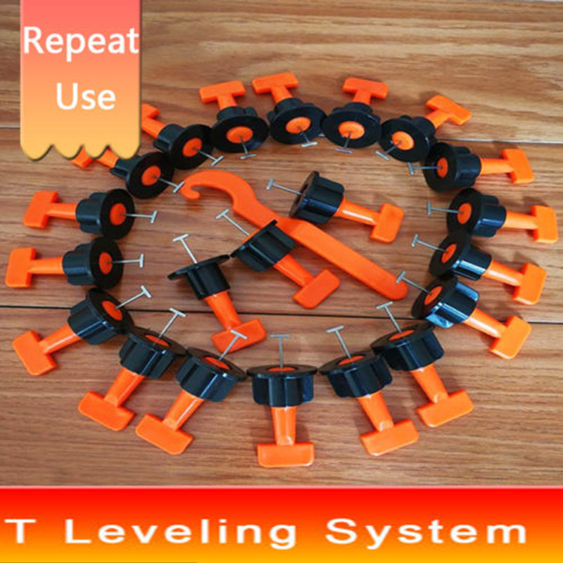 50 Pcs Reusable Tile Leveling Positioning System Leveler T-lock Floor Tool Kit50 Pcs Reusable Tile Leveling Positioning System Leveler T-lock Floor Tool Kit