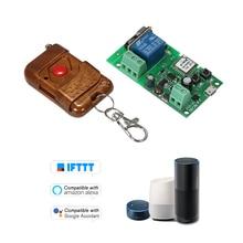 EWeLink USB DC5V 12 V 24 V 32 V RF 433 Mhz Wifi מתג אלחוטי ממסר חכם בית אוטומציה מודולים שליטה התקדם/עצמי נעילה