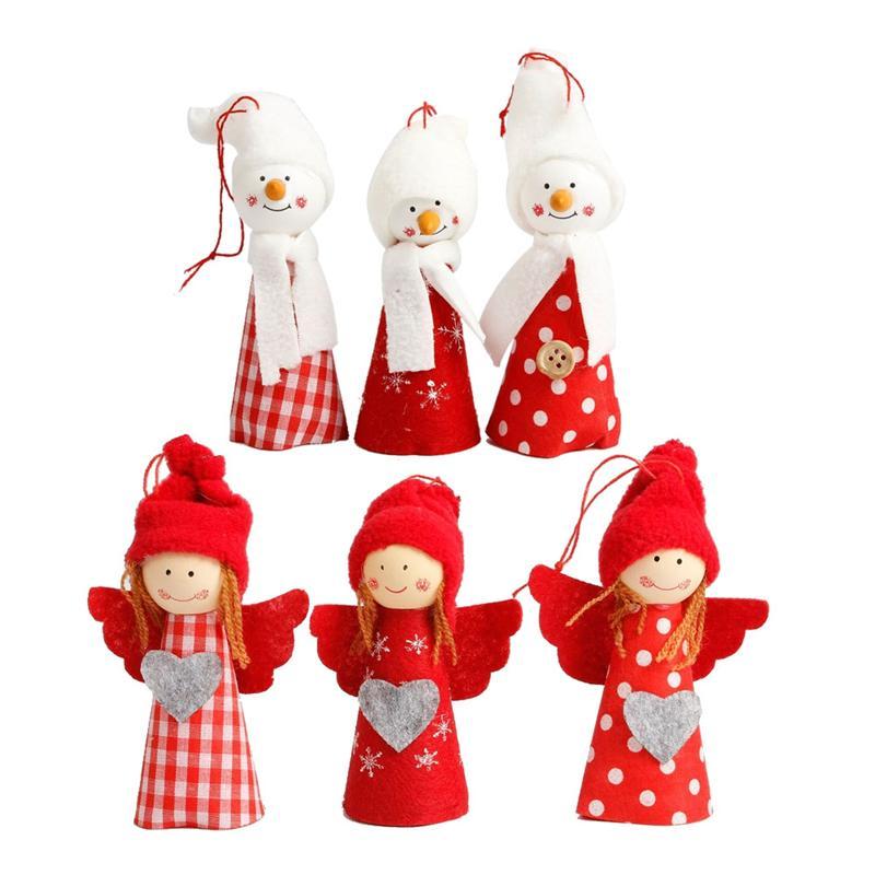6pcs Xmas Dolls Decorative Christmas Mini Pine Cone Hanging Dolls Pendants For Decorating Window Door Fireplace Christmas Tree Welding Equipment
