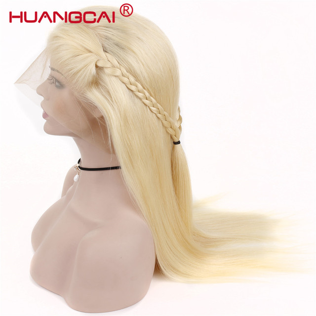 #613 Blonde Wigs 150% Density Brazilian Straight Remy Human Hair Lace Front Wig Pre Plucked With Baby Hair Blonde Lace Wigs 2