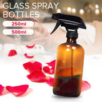 250/500ml Amber Glass Salon Spray Bottles Essential Oil Aromatherapy Dispenser Hair Cutting Atomizer Empty Cosmetic Container