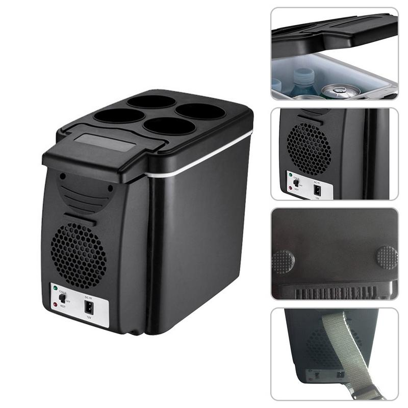 6L Mini Car Refrigerator Fridge Travel Refrigerator Universal 2 in 1 Cooler Warmer Icebox Heating Food Electric Portable Cooler6L Mini Car Refrigerator Fridge Travel Refrigerator Universal 2 in 1 Cooler Warmer Icebox Heating Food Electric Portable Cooler