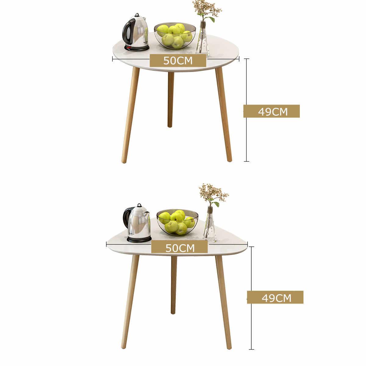 Прикроватная круглый Треугольники обеденный стол Кофейня 50X49 см с деревянными ножками, Офис мебелью ручной стержень, для кафе, для украшения мебели