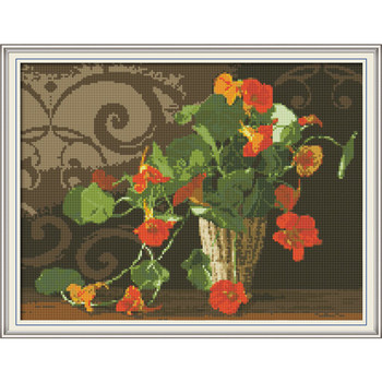 The mornin lory Diamond Embroidery Full Display Diamond Mosaic Diamond Painting Diamond Embroidery Flowers Home Decoration Gift image