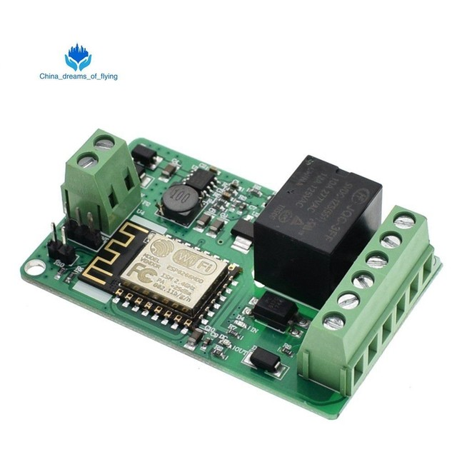US $3 92 | ESP8266 ESP 12F Relay Module 10A 220V Network Relay WIFI Module  Input DC 7V~30V 4 Layers Board TVS Input Automatic Protection-in Integrated