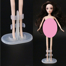 10Pcs/lot Doll Stand Transparent Color Display Holder For Dolls Stands Doll Accessories Support Leg Holders Girl Play Toy 2pcs lot doll stand display holder for barbie dolls doll accessories doll support leg holders transparent