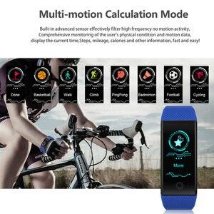 Image 4 - Pulseira inteligente ip68, à prova d água, monitor de freqüência cardíaca, sono, esportes, medidor de fitness, rastreador bluetooth, smartwatch.