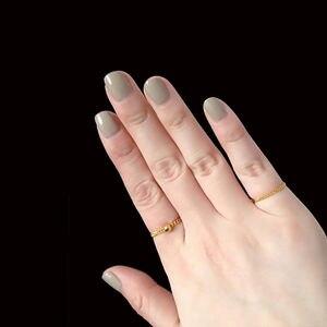Image 2 - Puro 24K Anello In Oro Giallo Bead con Curb Link Anello Formato: US 5 12