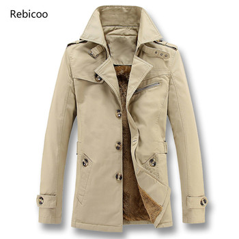 Men Winter Fleece Thick Jackets and Coats Overcoats Male Casual Fashion Slim Fitted Large Size Jackets Hombre Men men s winter parka jackets large size fleece thick warm winter jackets male outwear windbreakers fur hooded jackets coats