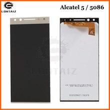 купить New 5.7 inch Black / White / Gold Full LCD display + Touch Screen Digitizer Assembly For Alcatel 5 5086 5086A 5086D 5086Y по цене 2355.14 рублей
