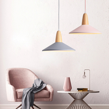 цена на Nordic Loft LED Pendant Light Aluminum Lampshade Pendant Lamp Restaurant Coffee Bar Kitchen Fixtures Deco Hanging Lamp Luminaire