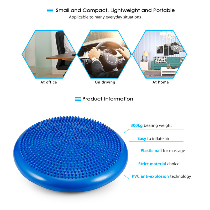 Image 3 - Yoga Balanced Mats Massage Pad Cushion Balance Disc Balance Ball Riot Yoga Cushion Ankle Rehabilitation Cushion Pad-in Yuga Mats from Consumer Electronics