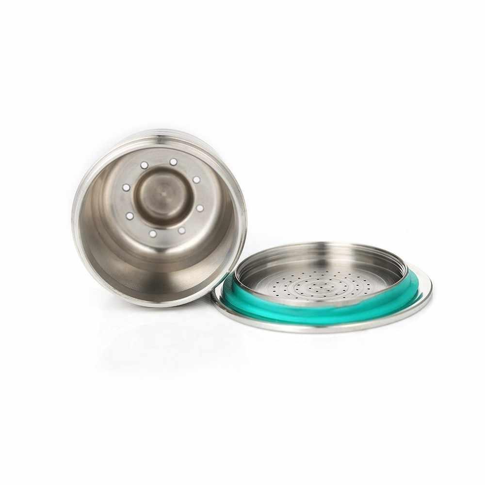 Новый Nespresso многоразового обновления круглое отверстие многоразового использования кафе капельница из нержавеющей стали пустые капсулы металла для повторного использования кофе капсула