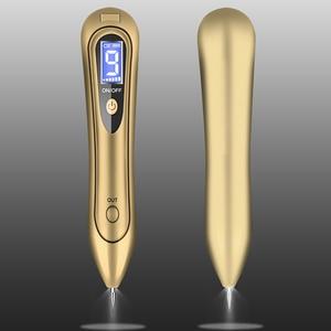Image 5 - Spotlight Wart Remover LCD Laser 9 level Plasma Skin Moles Dark Freckle Dot Face Tag Tattoo Beauty Mole Removal Sweep Spot Pen