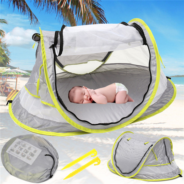 Baby Travel Bed Toy Tent Portable Baby Beach Tent UPF 50+ Sun Shelter Folding Outdoor Chid Travel Bed Mosquito Net Toy New