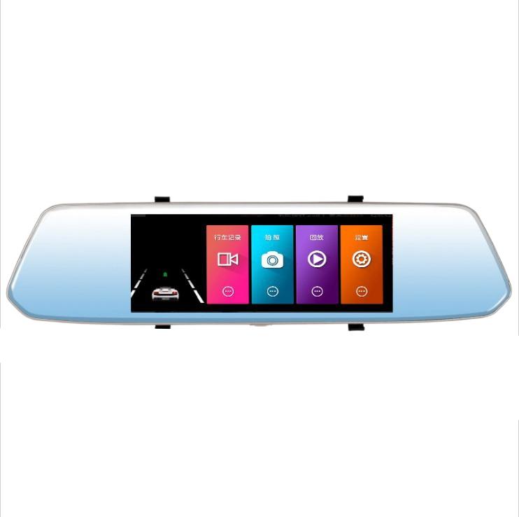 7 pouces Hd 1080 P voiture Dvr presse écran miroir caméra double lentille enregistreur Parking vue arrière conduite enregistreur