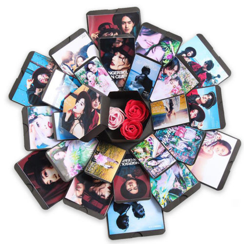 NEUE Hexagon Überraschung Explosion Box DIY Sammelalbum Fotoalbum Für Valentine Hochzeit Geschenk