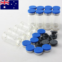 100pcs/set 10ml Empty Glass Boxes Vials with Stopper Seals Cosmetic Bottles DIY Clear Transparent Glass Jars Containers