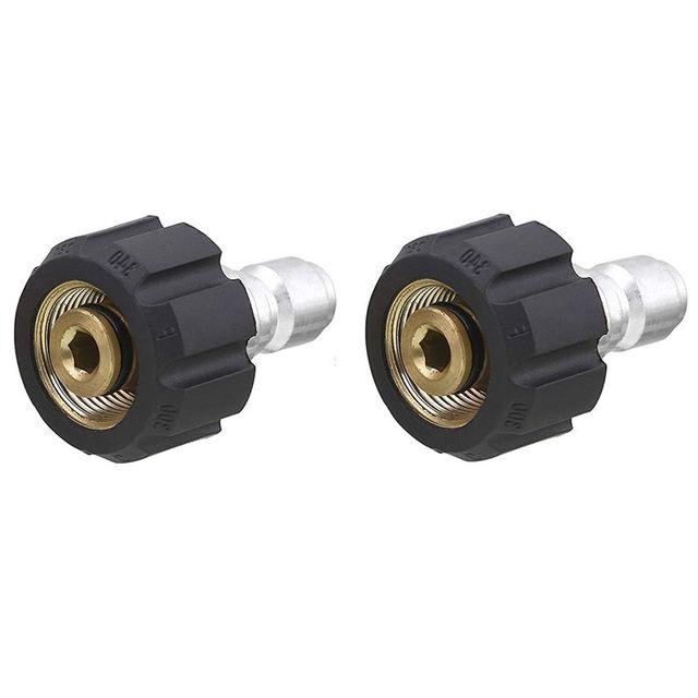 Rondelle à pression Twist Connect M22 14mm X 3/8 pouce bouchon à déconnexion rapide raccord haute pression B raccord rapide mamelon, 5000 PSI