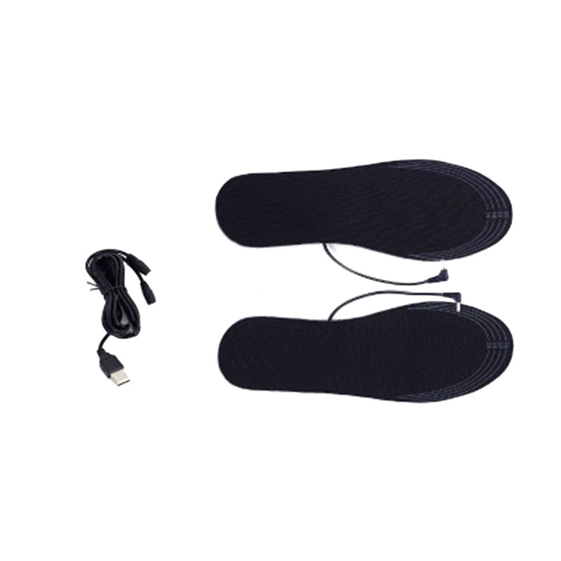 Carbon Fiber Electric Heated Shoe Cuttable Insoles Warm Socks Feet Heater USB Charge Winter Warmer Pads One Size Fits Most Foot