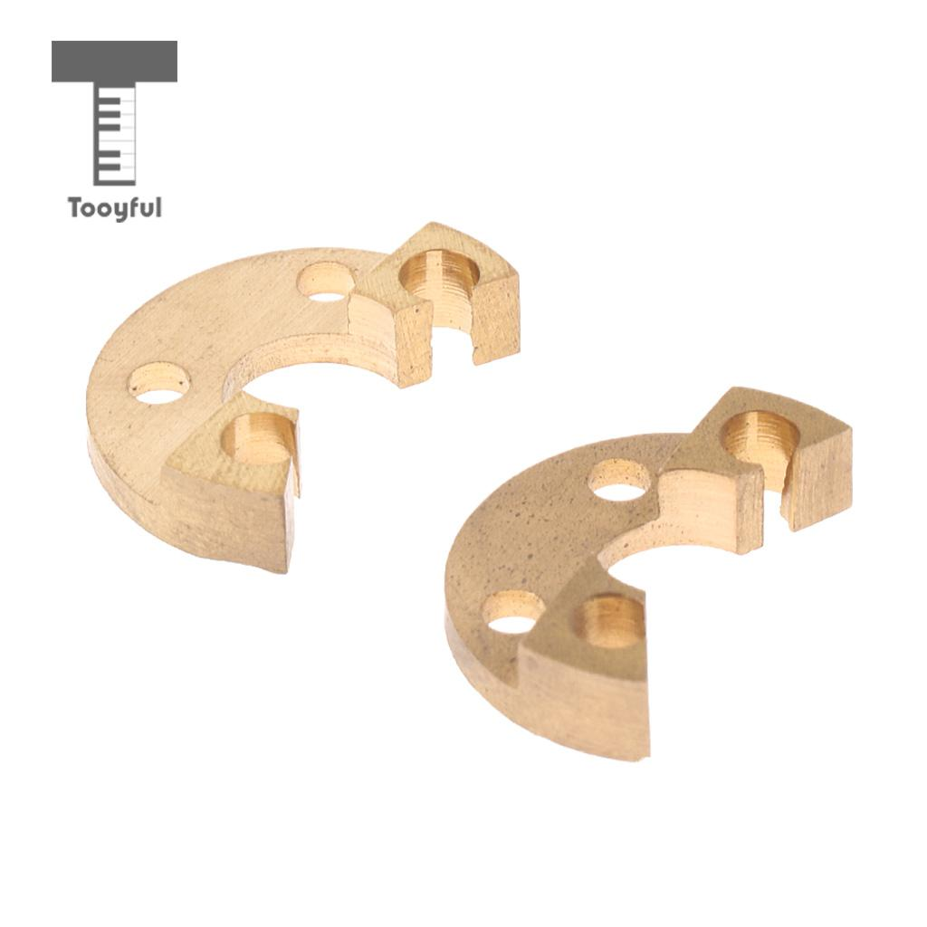Tooyful 2pcs French Horn Trombone Rotor Stops For Brass Instrument Parts