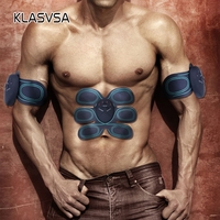 KLASVSA Electrical EMS Trainer Abdominal Muscle Stimulator Vibrate Massager Body Arm Fitness Slimming Pad Relaxation Healthcare