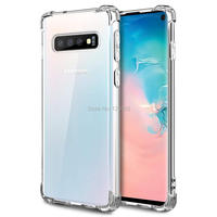 100pcs/lot Shockproof Clear Case for Samsung galaxy S10 PLUS/s10 lite/s9/S8/NOTE9/S7 back cover Silicone TPU Thin Housing COQUE