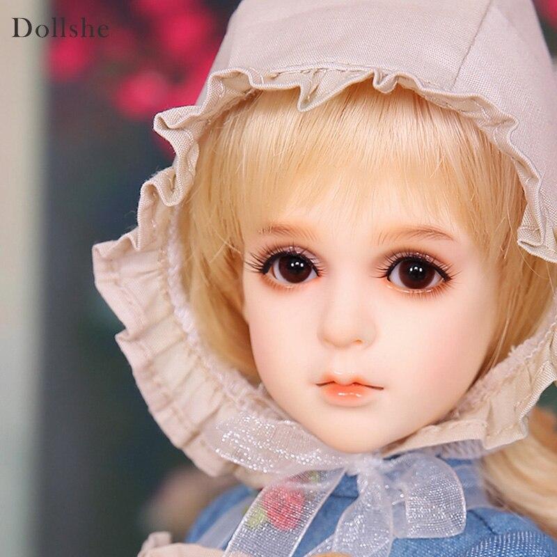 Livraison Gratuite BJD Poupées Dollshe Rosa Classique 1/4 6g Assez Innocent Haute Qualité Résine Fille Jouets Meilleur Cadeau DS oueneifs