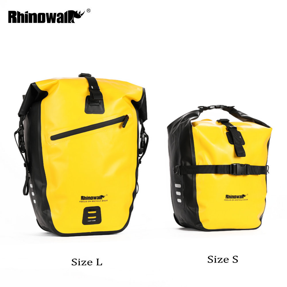 Rhinowalk 20L Bicycle Pannier Bag Waterproof Portable Bike Front Wheel Bag Rear Rack Tail Seat Trunk Pack Cycling MTB Bag-in Bicycle Bags & Panniers from Sports & Entertainment    1