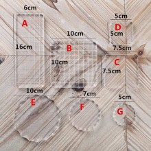 Высокой прозрачности, акриловый блок для DIY прозрачный печать Блок Набор «сделай сам» для Скрапбукинг четкие фото альбом декоративные