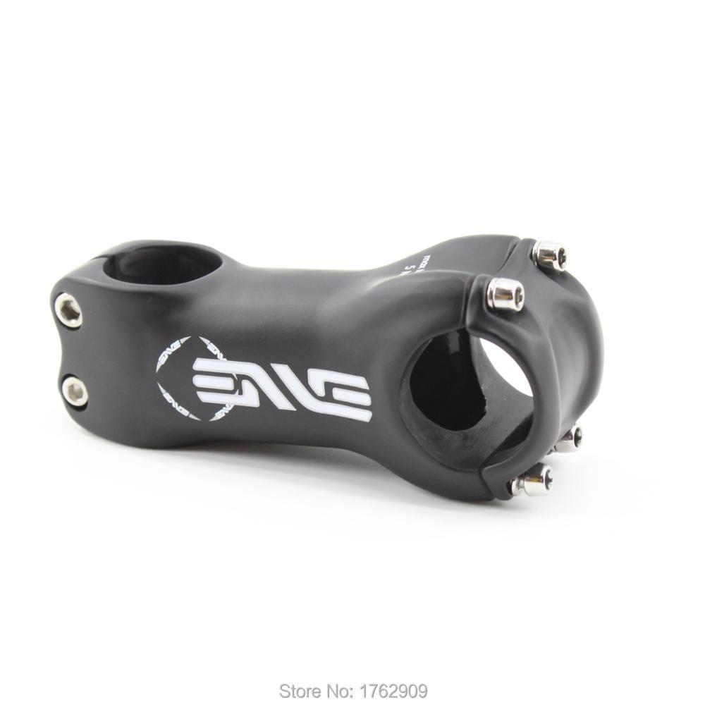 Newest White Logo Road&Mountain Bike Matte UD Full Carbon Fibre Stem Carbon 31.8*80-120mm 6&17 Angle Degrees MTB Parts Free Ship