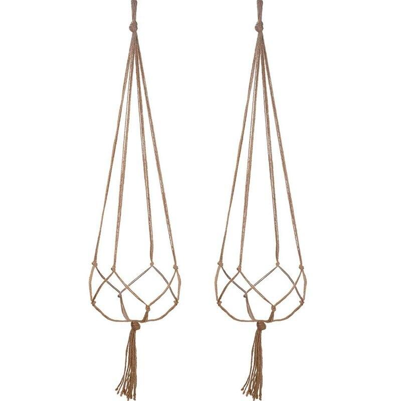 Funn-2 Pack 48 Inches Plant Hanger Bloempot Plant Houder Voor Indoor Outdoor Decoraties, Grote, 4 Benen Aangenaam Om Te Proeven