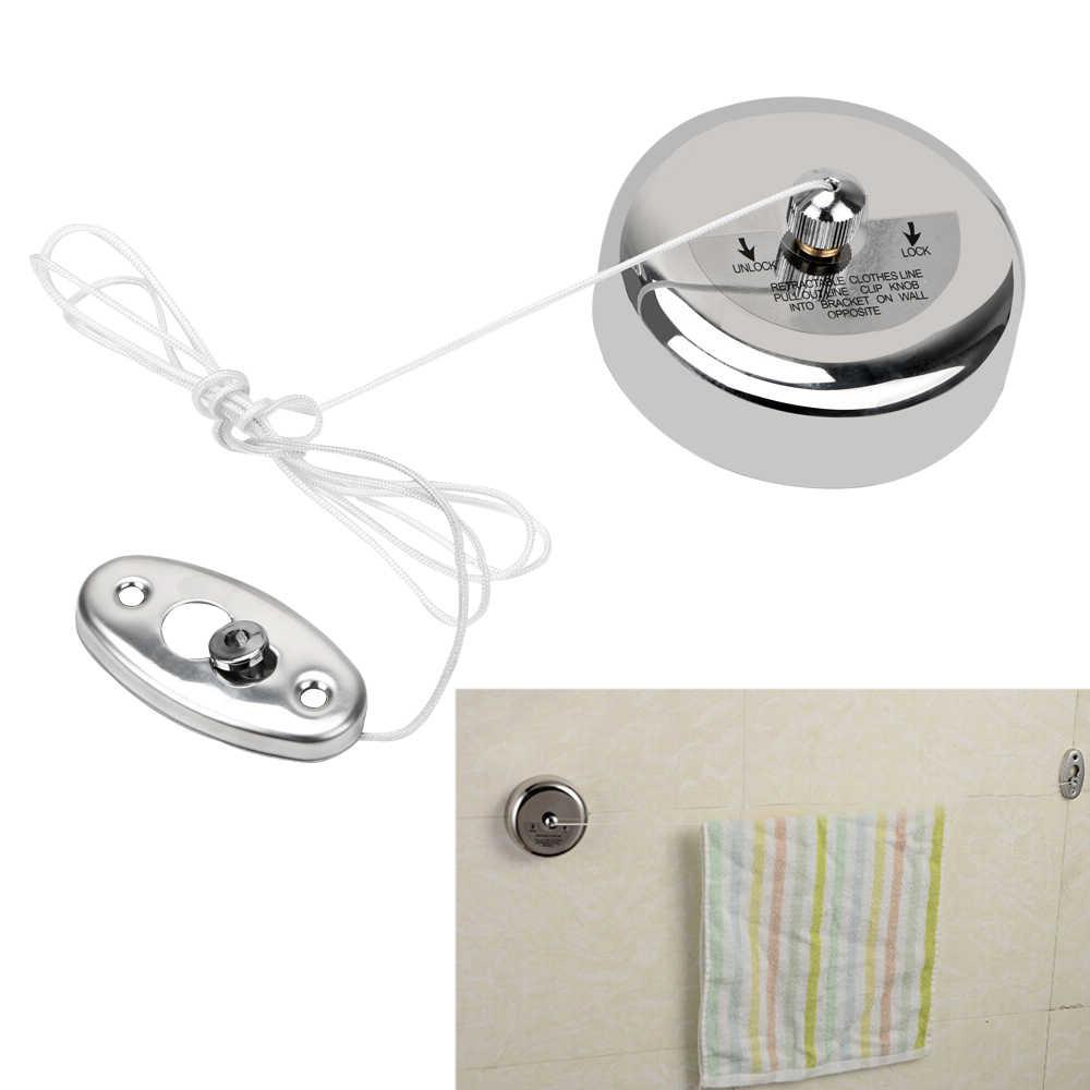 Hoomin roupas de secagem rack corda casa armazenamento aço inoxidável retrátil varais roupas secador organizador cabide lavanderia