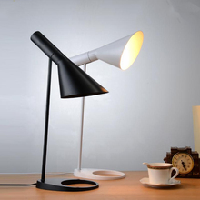 Nordic Study Desk Lights Modern Table Lamp Black/White Iron Lamps Cafe Industrial Decor Light Lighting Fixtures