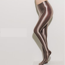 DROZENO Satin GLOSSY OPAQUE Shiny Wet look Tights shiny LEOHEX Sexy Stockings Sexy Stockings yoga pants training women sports leggings fitness(China)