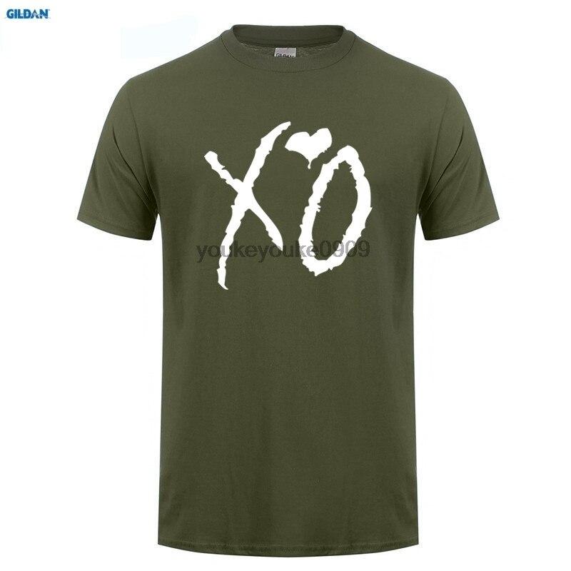 GILDAN  The Weeknd XO t shirt men anime T-Shirt Tops Girl Short Sleeve t-shirt top Tee Clothes