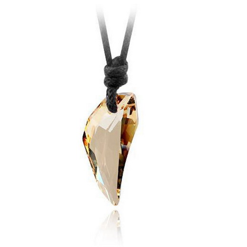 Moda wilk ząb Austria duże kryształowe naszyjnik z elementem naszyjnik z wisiorkiem z wilczym kłem dla mężczyzn biżuteria prezent