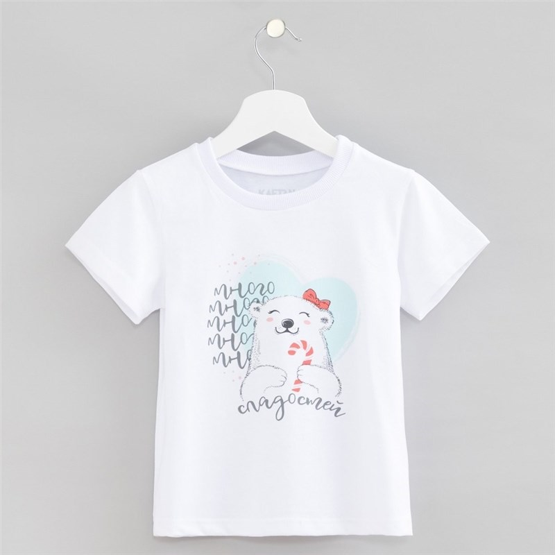 T Shirt kids KAFTAN Many sweets 3 6 years 100% cotton fashionable soft cotton hat for 0 3 years old baby pink blue